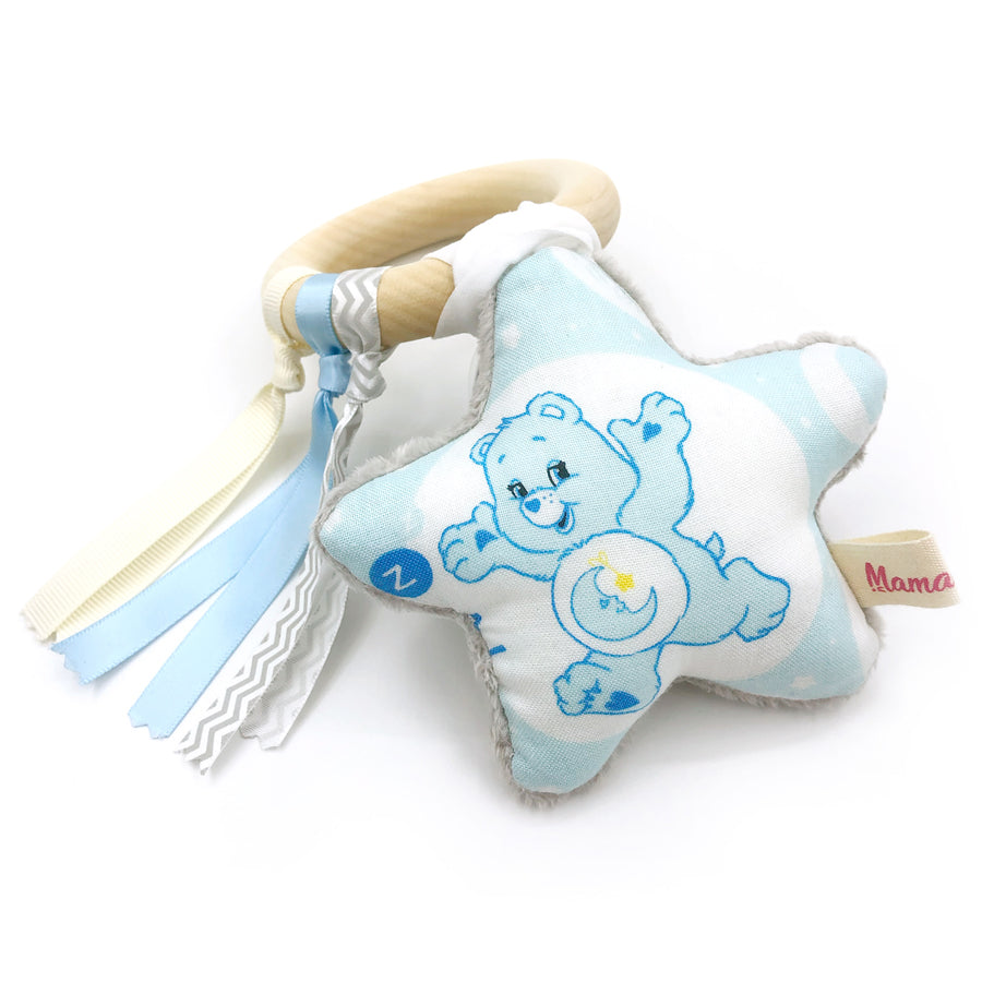 Teether Ring Care Bear Blue