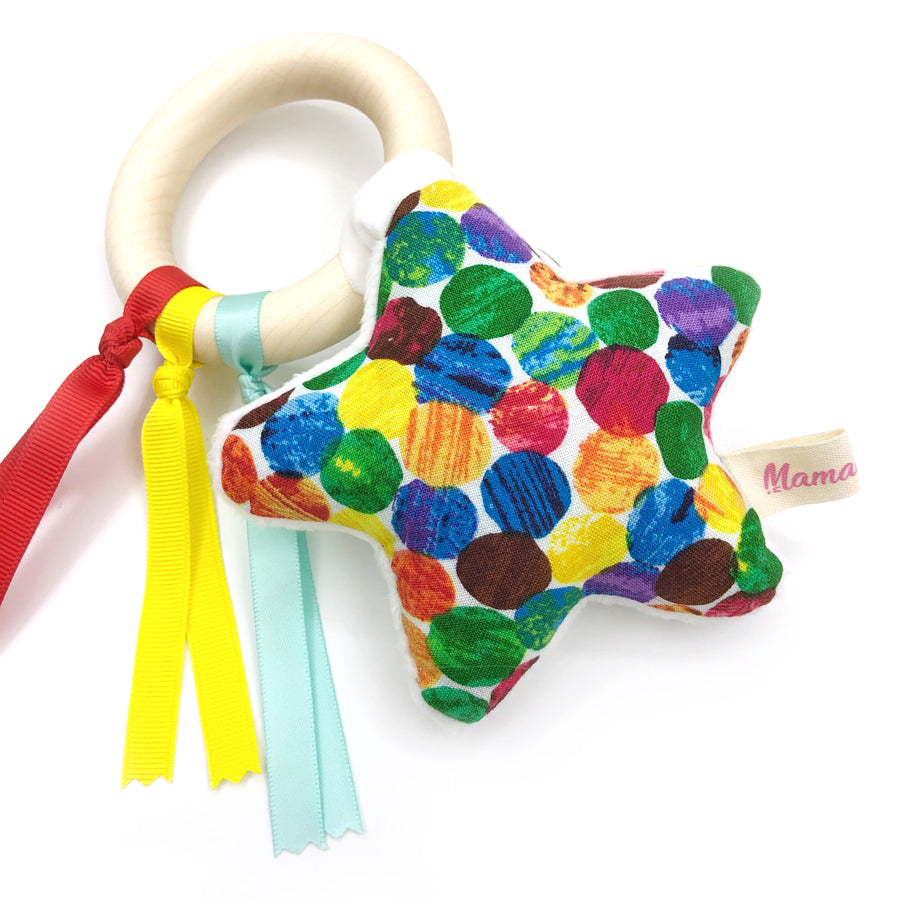 Teether Ring Hungry Caterpillar Dots