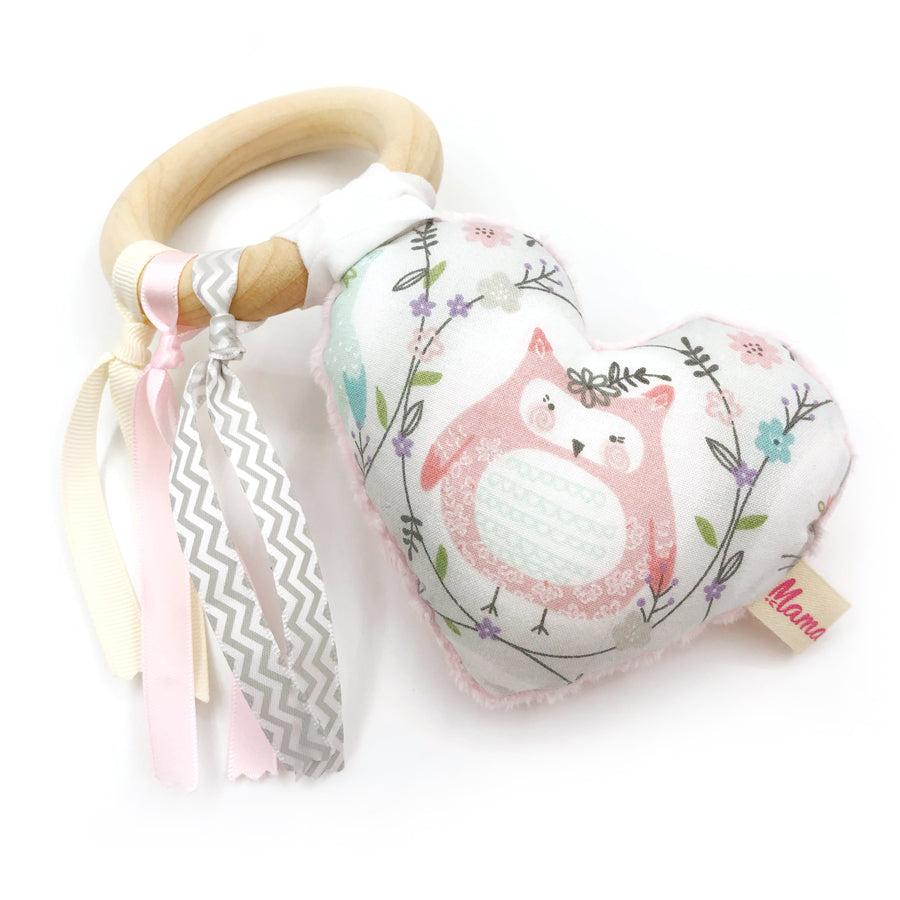 Teether Ring Owl Rabbits