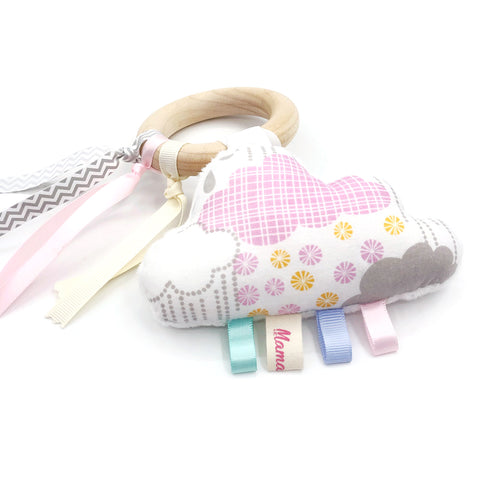 Teether Ring Pink Cloud Sparky