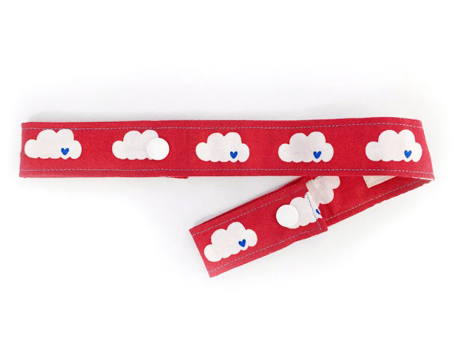 PRE-ORDER Toy Strap Clouds On Red