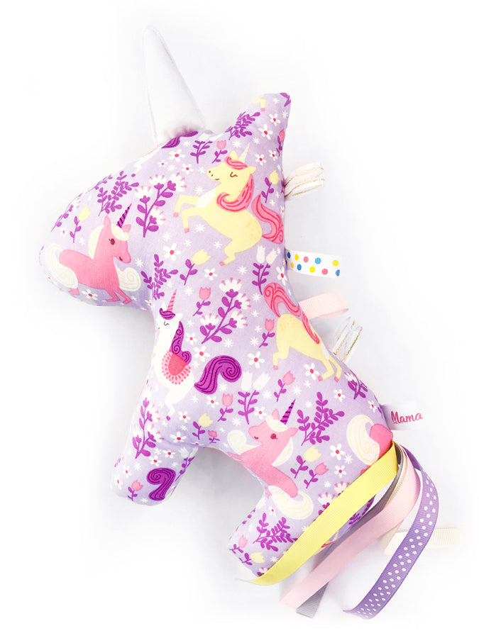 PRE-ORDER Rattle Unicorn Princess Purple