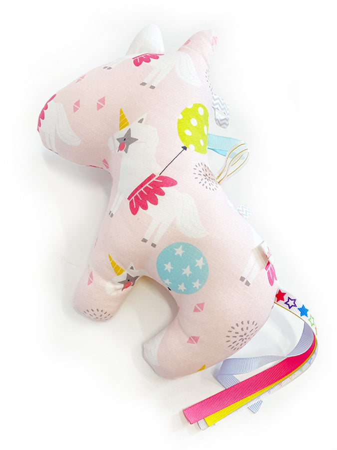 IN-STOCK Rattle Unicorn Party Pink