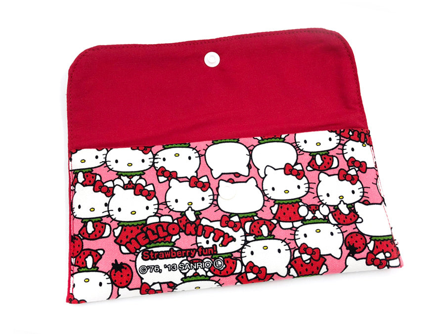 Cash Wallet Hello Kitty Strawberry Pink