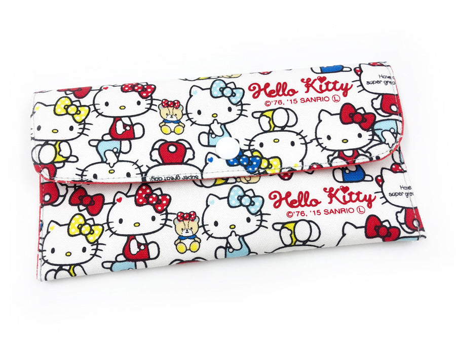 PRE-ORDER Fabric Wallet Hello Kitty Red Blue