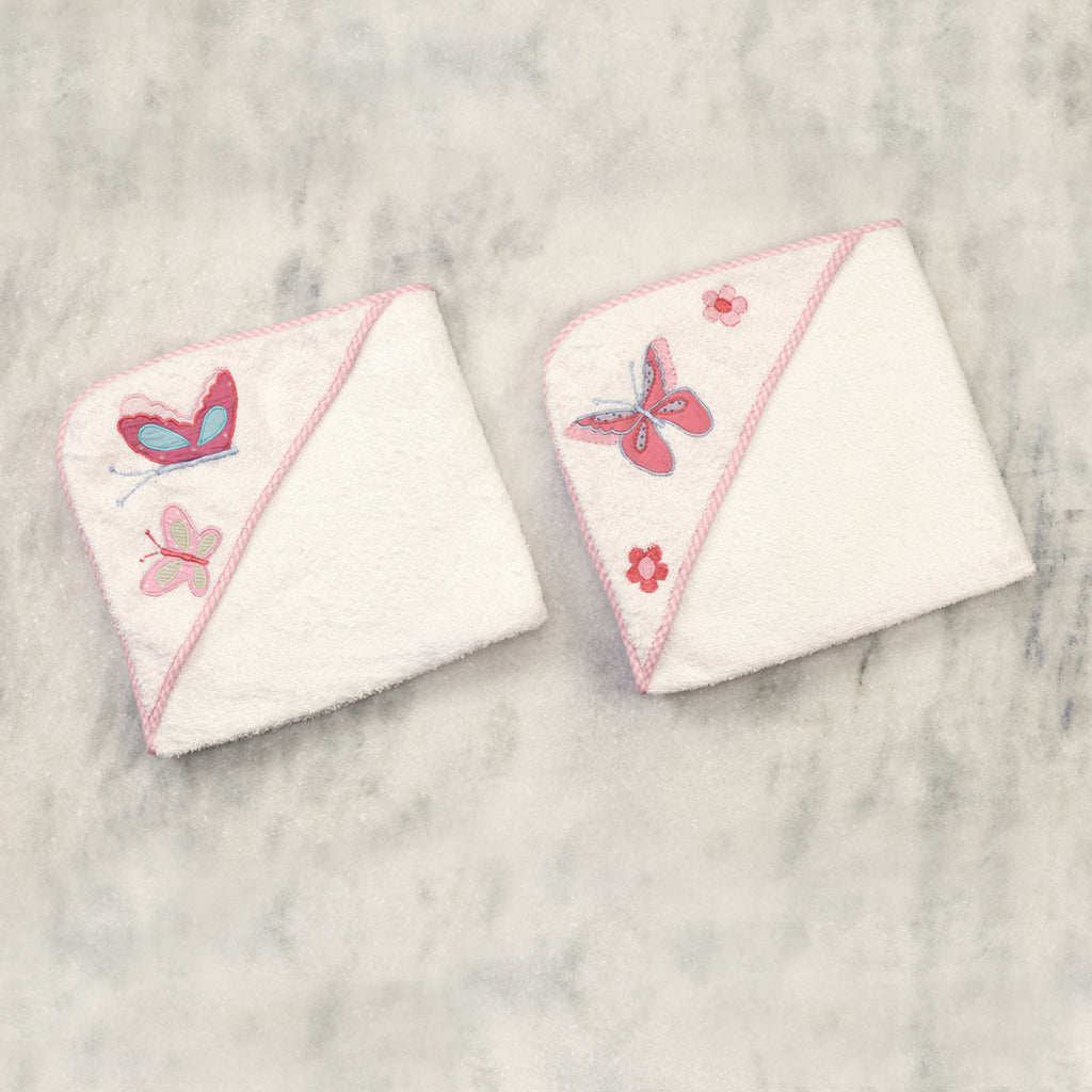 "Butterfly Kisses Towels <br> Set of 2 <br> <span style=""font-size: 11px; font-family:Helvetica,Arial,sans-serif;"">Can Be Personalised</span>"