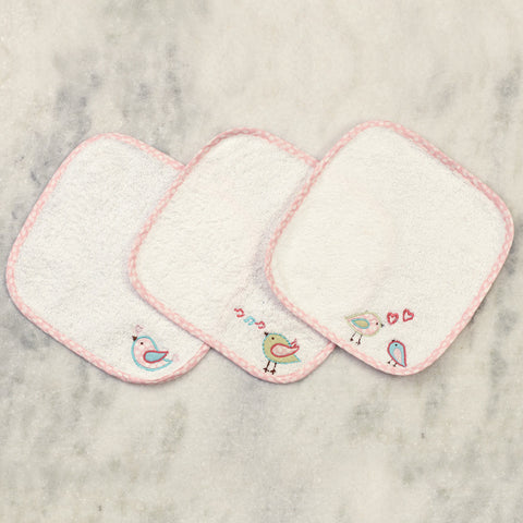 Sweet Melody Wash Cloths <br> Set of 3