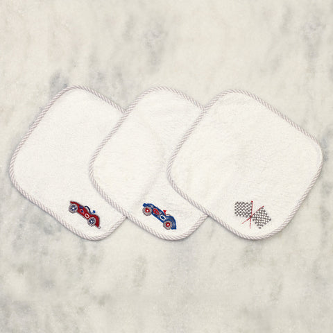 Vroooom! Wash Cloths <br> Set of 3