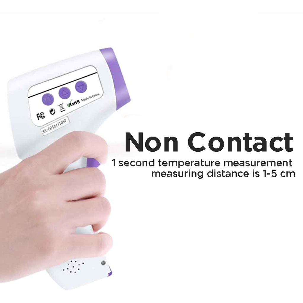 HeTaiDa Non Contact Infrared Thermometer (White, Purple)