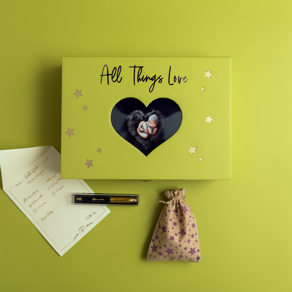 All Things Love Memory Box - Celery Green