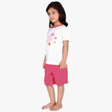 Girls 3pcs Lounge Set -  Summer Grey/Pink