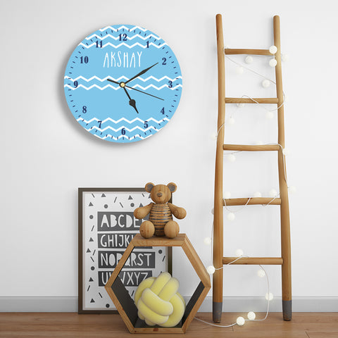 Personalised Clock - For Boys