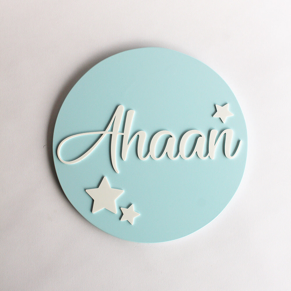 Name Sign - Star Theme