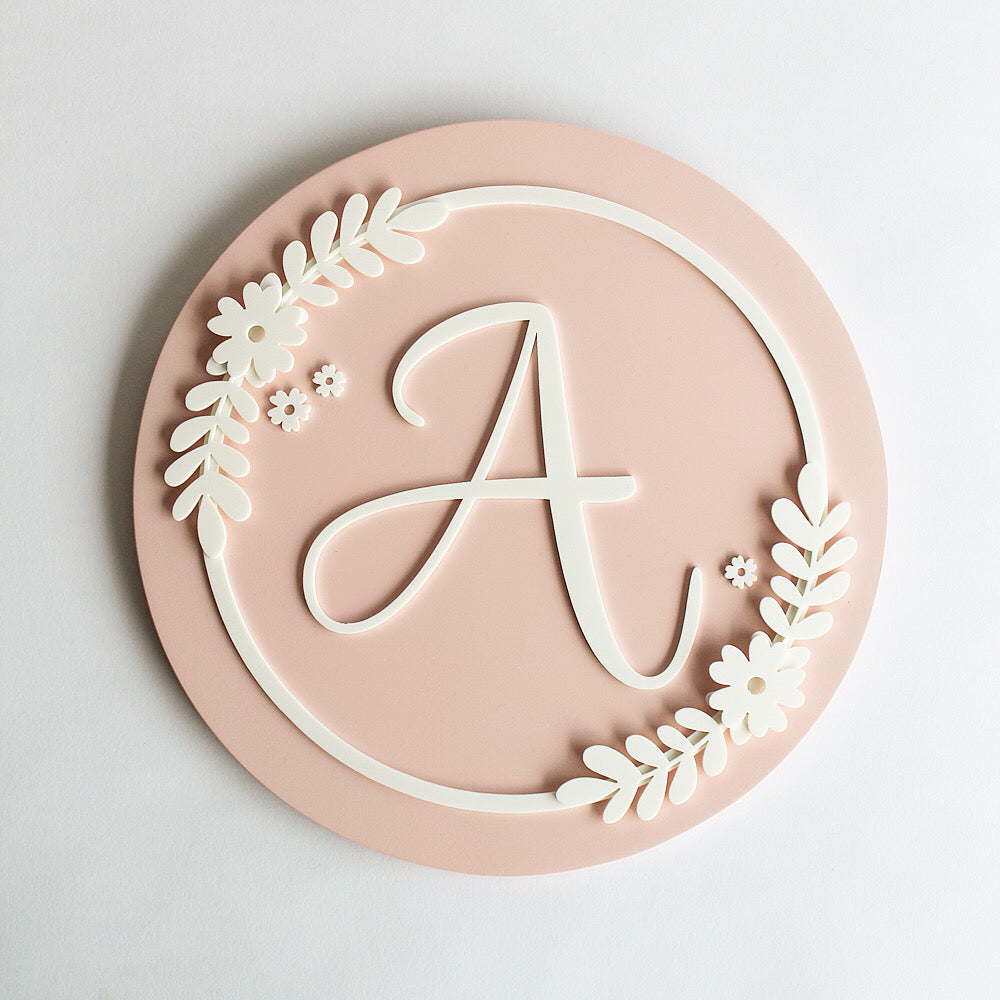 Name Sign Cursive Initial - Flower Theme