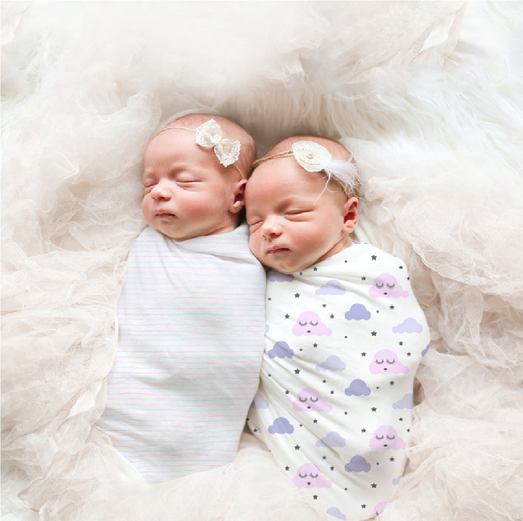 Organic Muslin Swaddle - Little Dreamers, Pack of 2