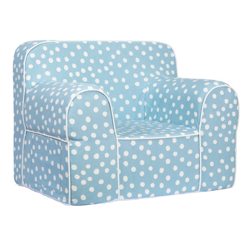 Kids Sofa - Blue Base with White Dots