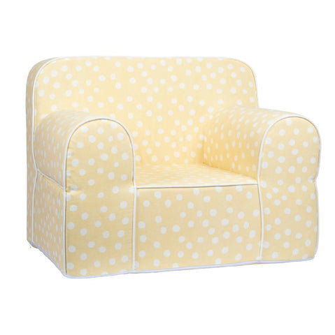 Kids Sofa - Yellow Base with White Dots
