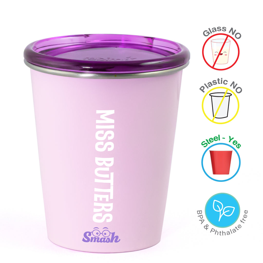Spill Free Stainless Steel Cup - Miss Butter