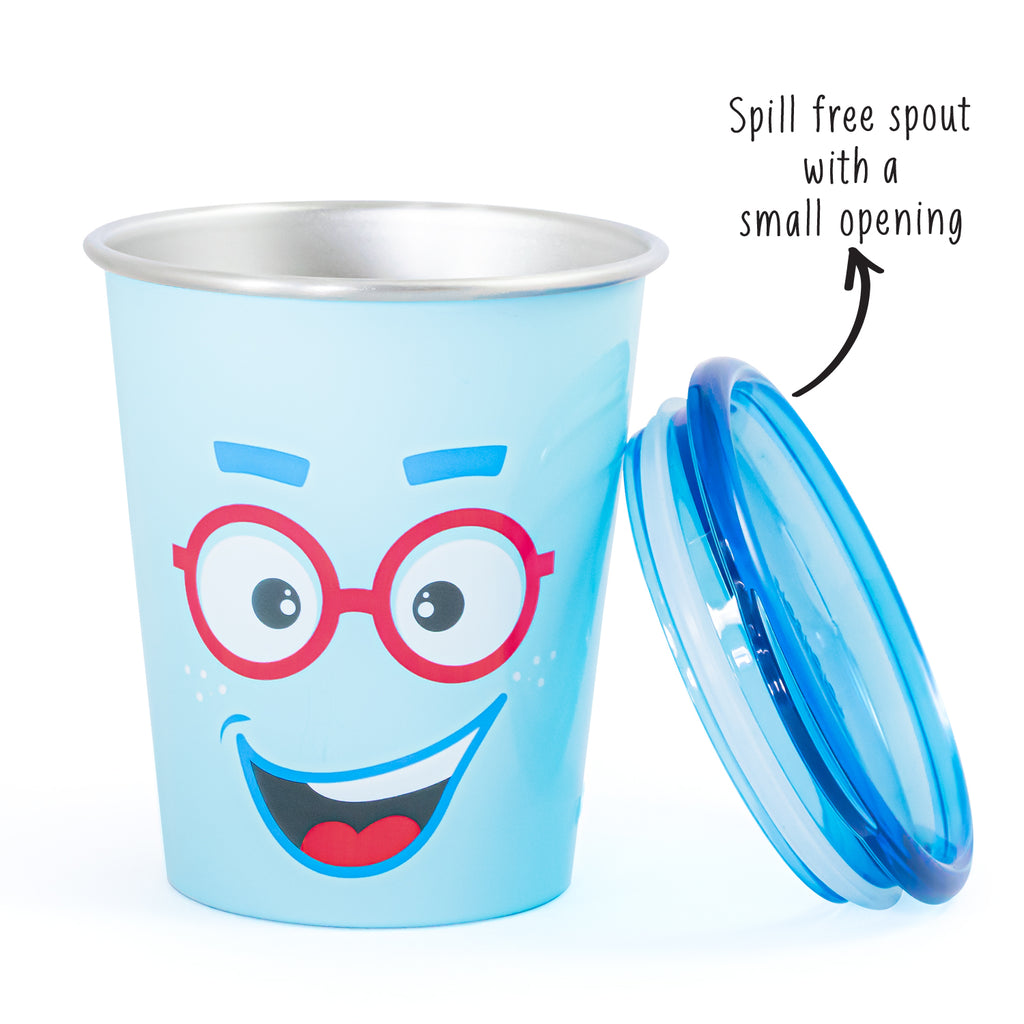 Spill Free Stainless Steel Cup - Sparky