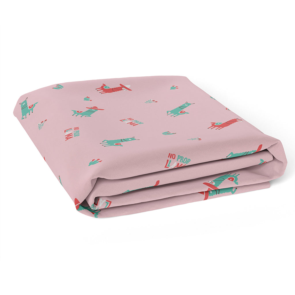 Rabitat 100% Organic Cotton Flat/Fitted Crib Sheet - No Prob Lama