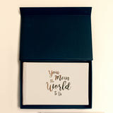 You Mean The World To Us - Baby Visitor Book