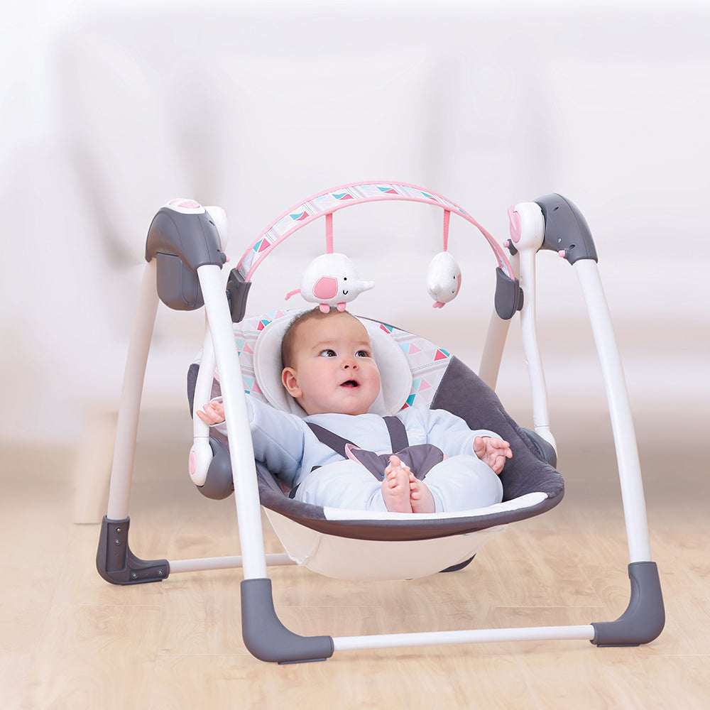 Mastela Deluxe Portable Swing with Music - Pink