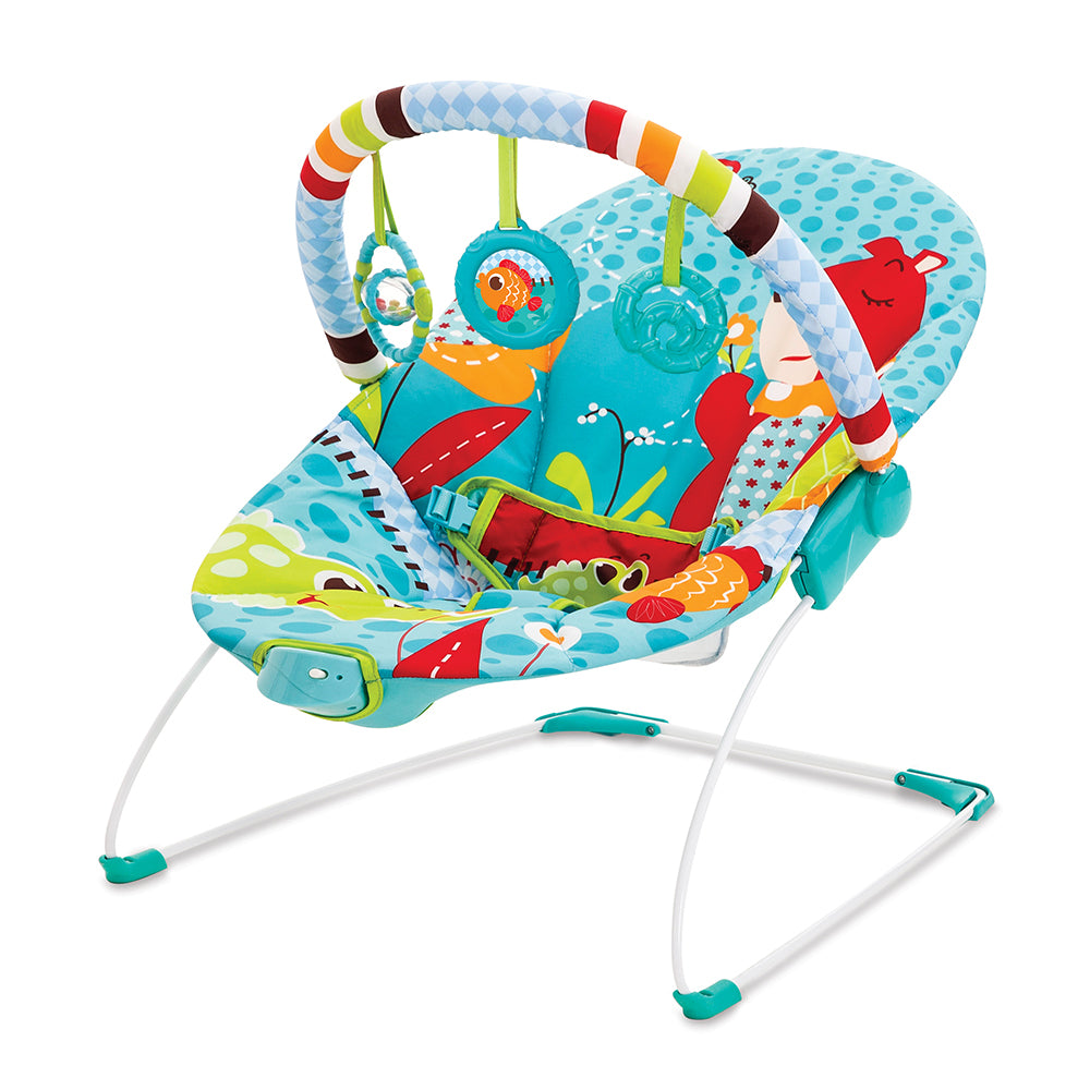 Mastela Soothing Vibration Bouncer - Blue