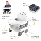 Mastela Folding Booster Seat - Grey, 6m+
