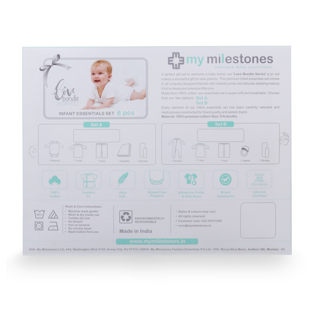 My Milestones Love Bundle Infant Gift Set B - 6 pcs - Yellow