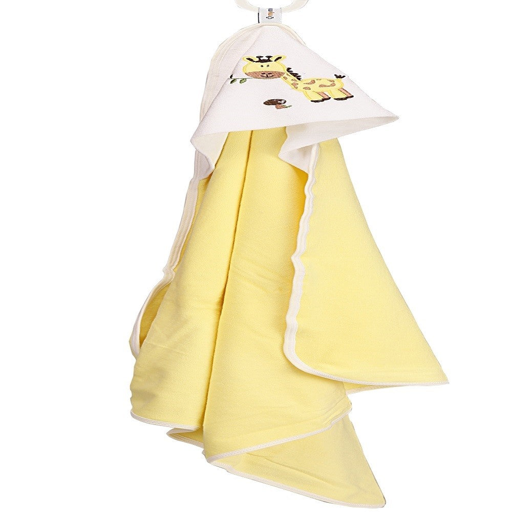 Hooded Towel - Yellow Solid