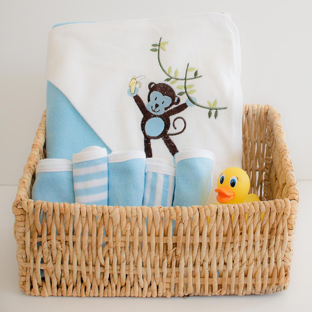 Hooded Towel - Blue Solid