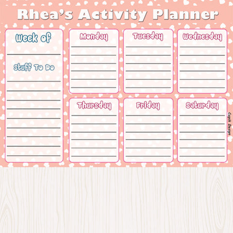 Personalised Activity Planner - Polka Dots, Set of 50