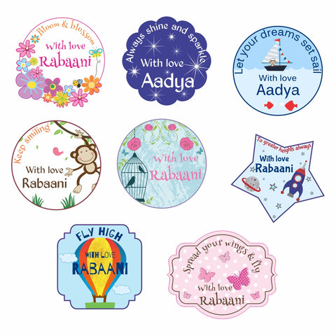 Personalised Gift Stickers - Assorted, Set of 56