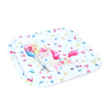 White Heart Metal Tin Tray