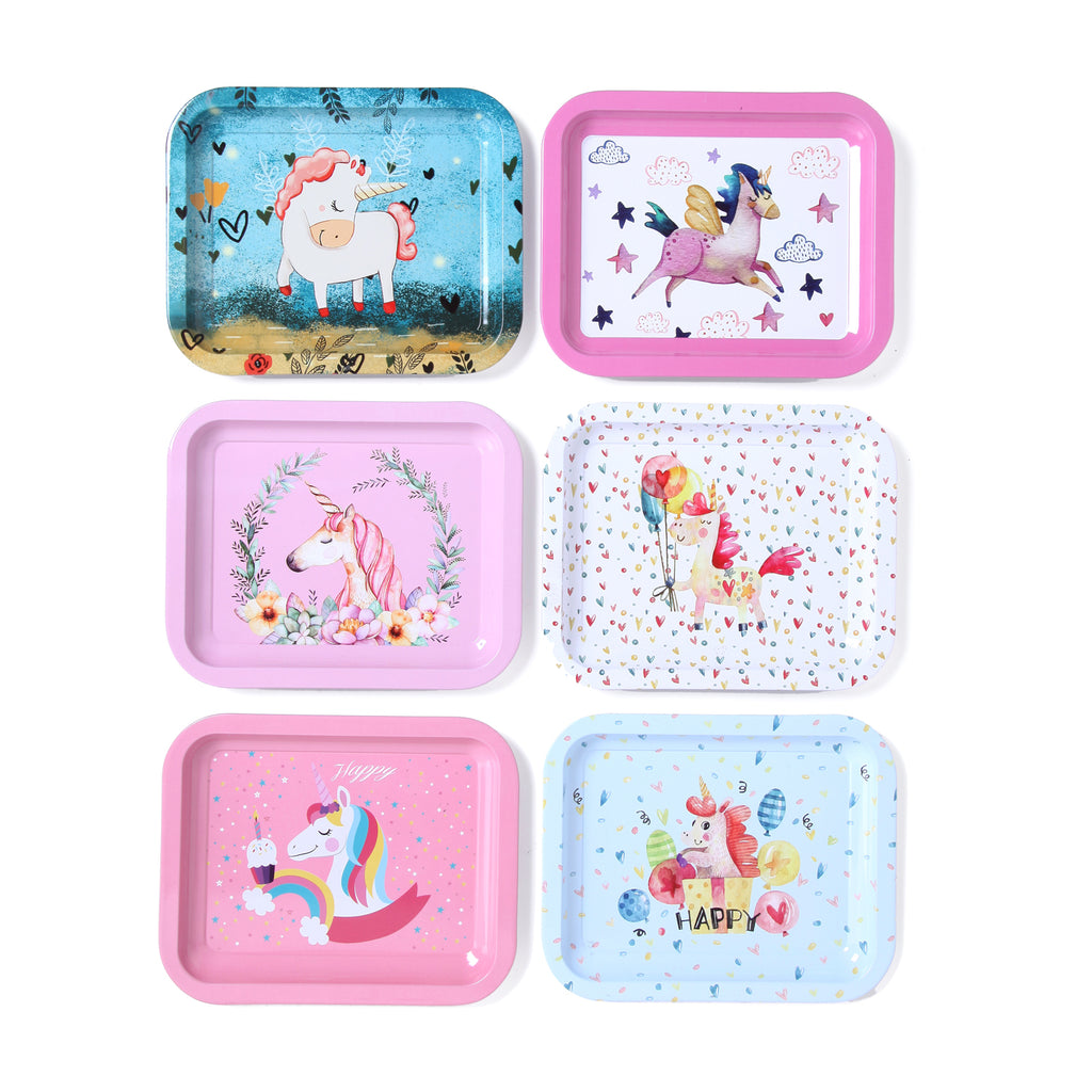 Cute Unicorn Mini Serving Tray (Set of 6)