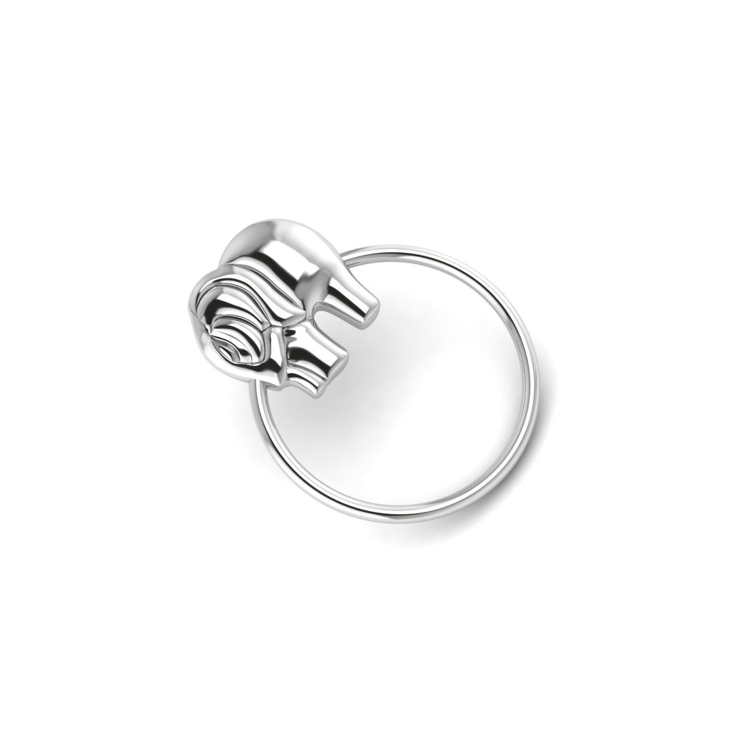 Sterling Silver Rattle & Teether - Elephant Ring