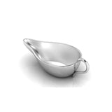 Sterling Silver Flat Medicine Porringer With Plain Handle