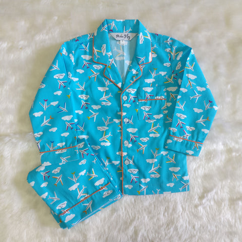 Adult Pyjama Set - Airplanes, For Women