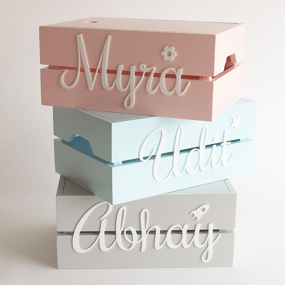 Personalised Name Box, Blue