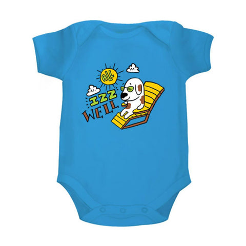 All izz well <br> Organic Cotton Onesie, Can be Personalised