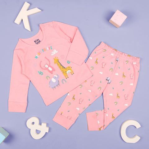 Kicks & Crawl- Animal Friends Nightsuit (3-24 M)