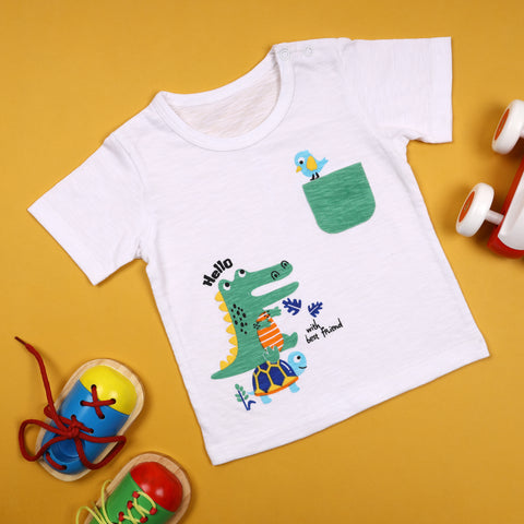 Animal Friends Pocket T-shirt (3-24 Months)