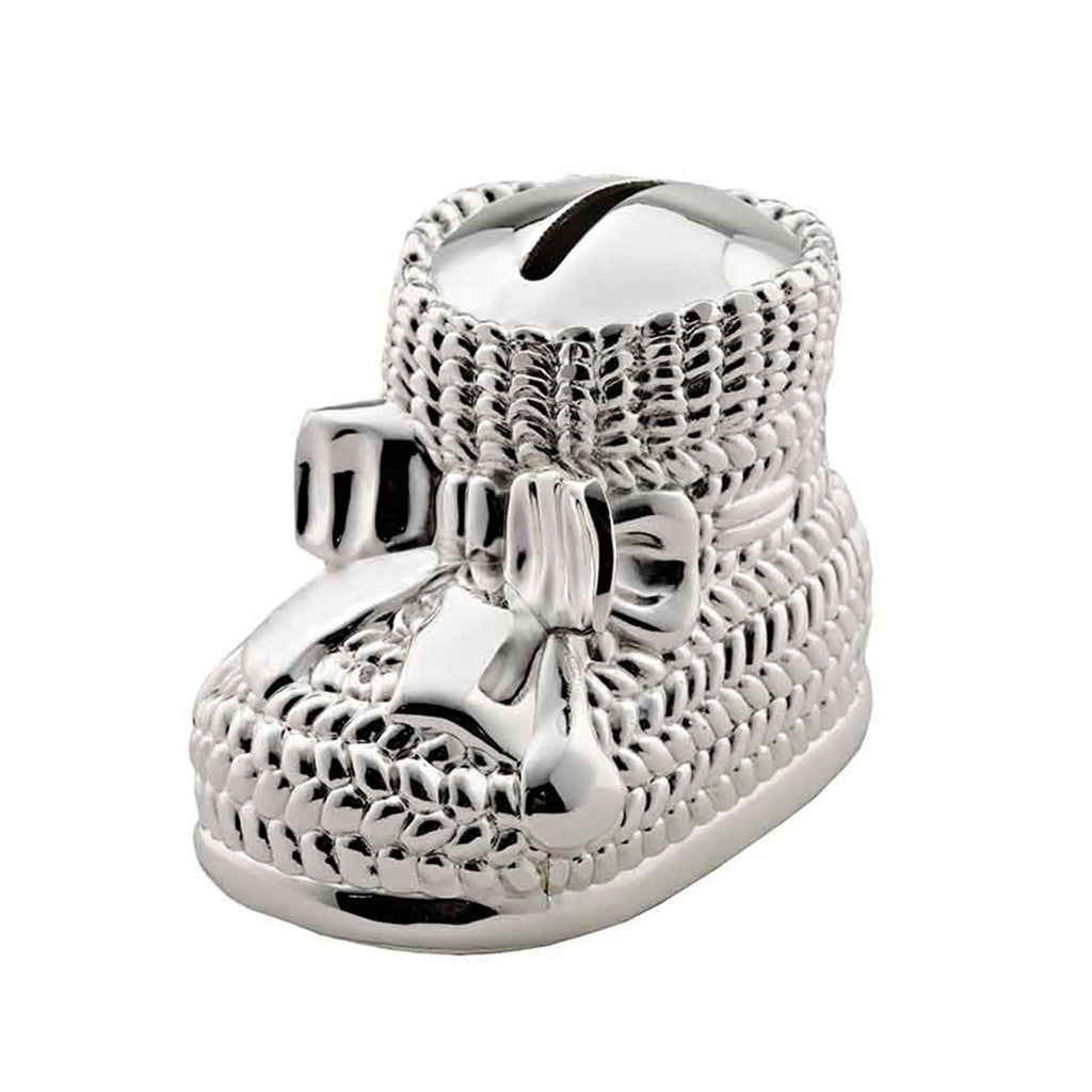 Frazer & Haws 92.5 Silver Plated Money box - Baby Shoe