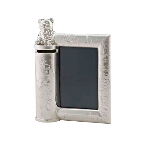 Frazer & Haws 92.5 Silver Plated Money box - Baby W/2R Photo Frame