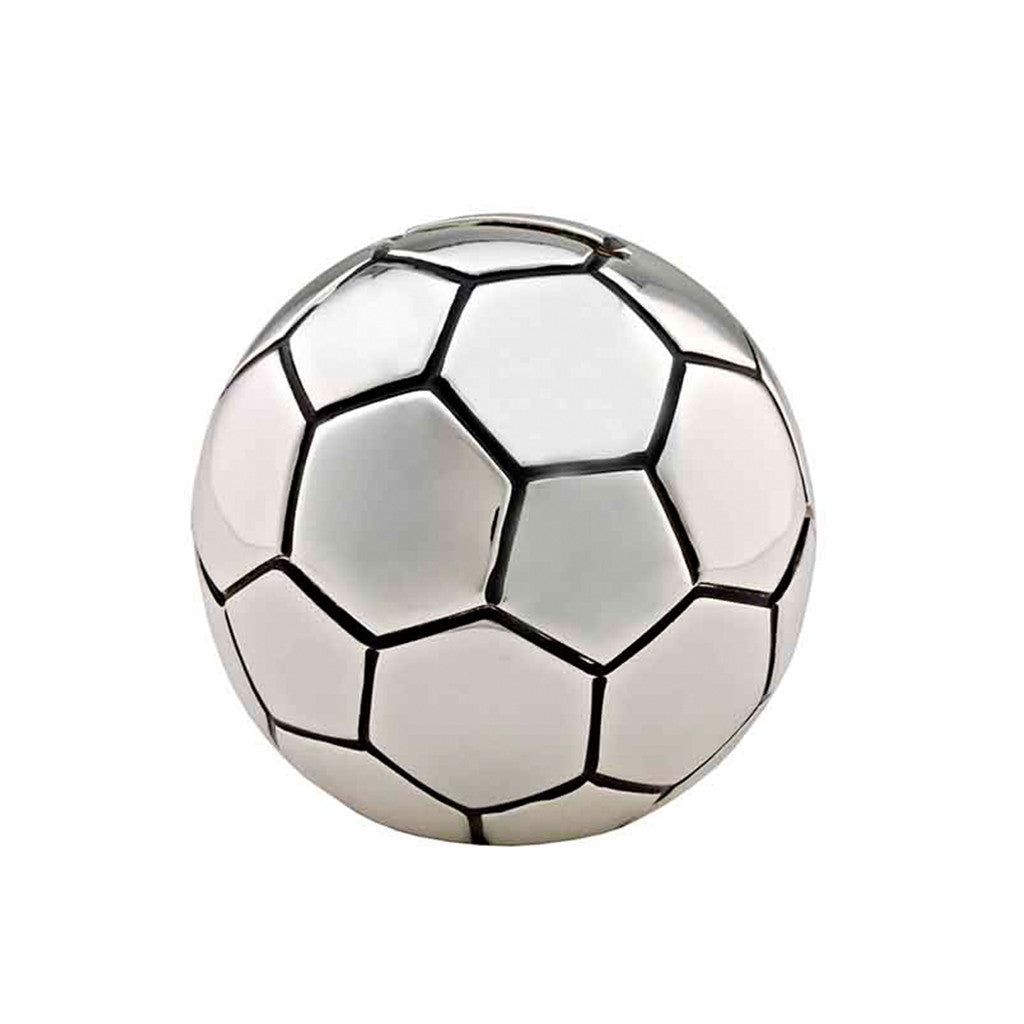 Frazer & Haws 92.5 Silver Plated Money box - Football