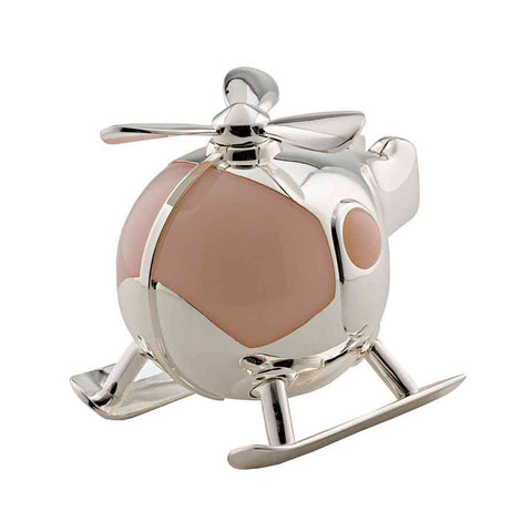Frazer & Haws 92.5 Silver Plated Money box - Helicoptor