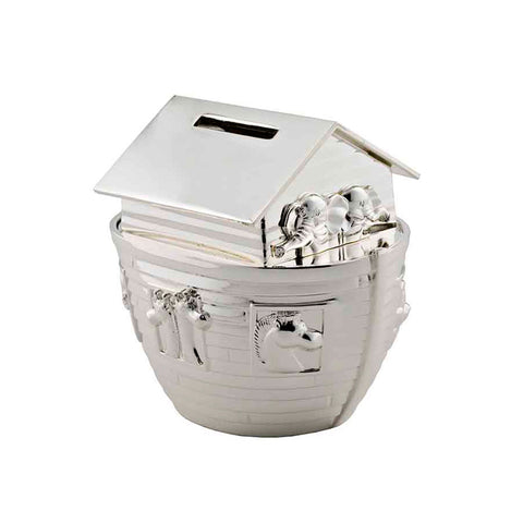 Frazer & Haws 92.5 Silver Plated Money box - Noah's Ark