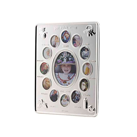Frazer & Haws 92.5 Silver Plated Photo Frame - My First Year