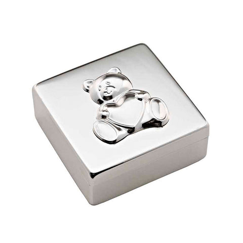 Frazer & Haws 92.5 Silver Plated Square Shape Box - Bear