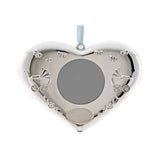 Frazer & Haws 92.5 Silver Plated Heart Shape Hanging Photo Frame